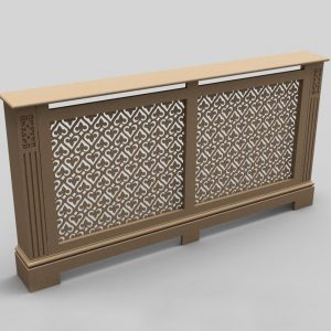 double radiator cover C01-02 Raw MDF