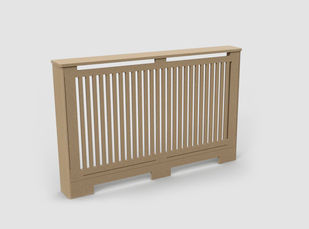 double radiator cover C02-02 Raw MDF